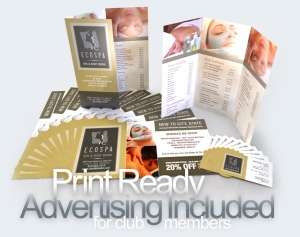 Collection of Print Ready Advertising included